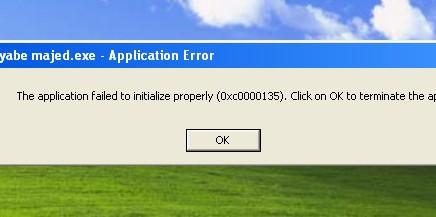 خطای Application Error خطا در هنگام اجرای نرم افزارها