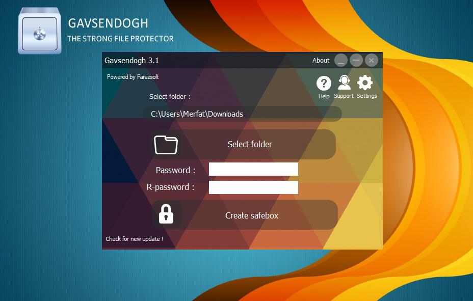 نرم افزار گاوصندوق,Gavsendogh,نرم افزار قفل گذاری