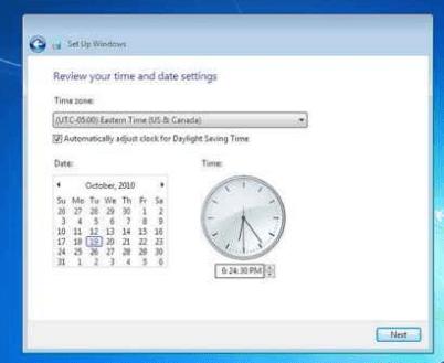 مراحل نصب ویندوز 7