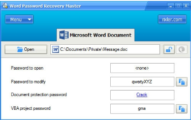 نرم افزار Word Password Recovery Master